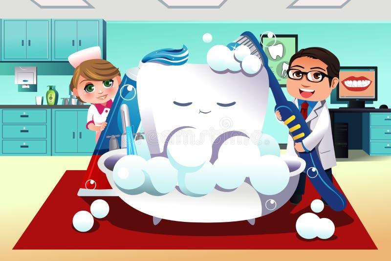 Concepto de higiene dental stock de ilustración