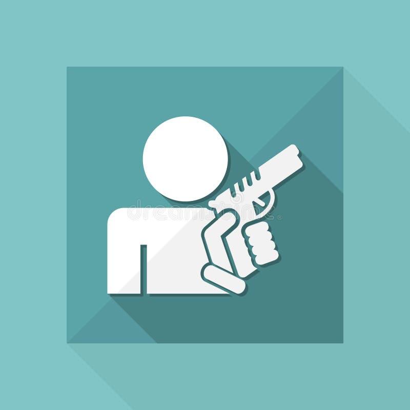 Concepto de hombre armado libre illustration