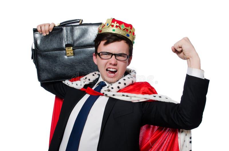 Concepto de hombre de negocios del rey foto de archivo