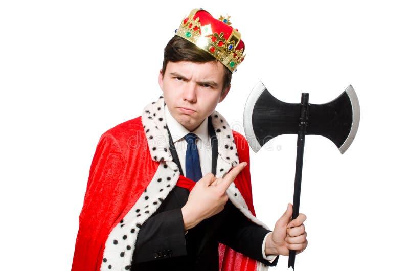 Concepto de hombre de negocios del rey fotografía de archivo