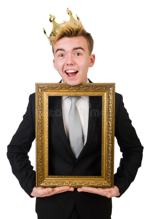 Concepto de hombre de negocios del rey imagen de archivo