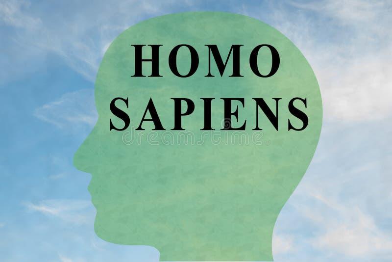 Concepto de HOMO SAPIENS stock de ilustración