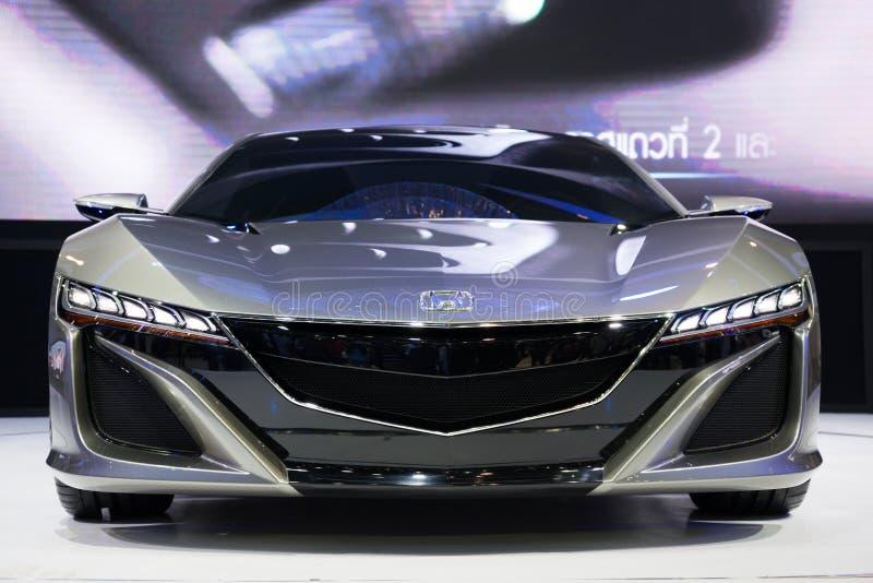 Concepto de Honda NSX en la exhibición imagen de archivo