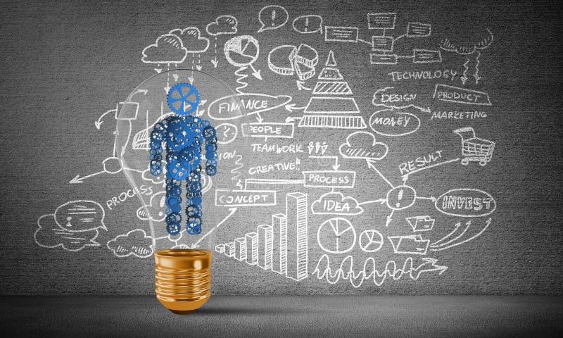 Concepto de innovaciones del negocio para la humanidad stock de ilustración