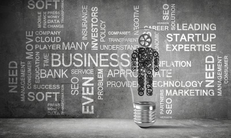 Concepto de innovaciones del negocio para la humanidad ilustración del vector