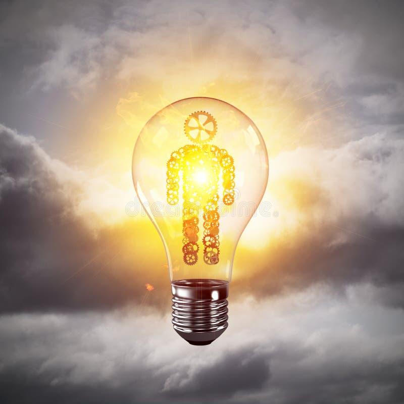 Concepto de innovaciones eficaces para la humanidad stock de ilustración