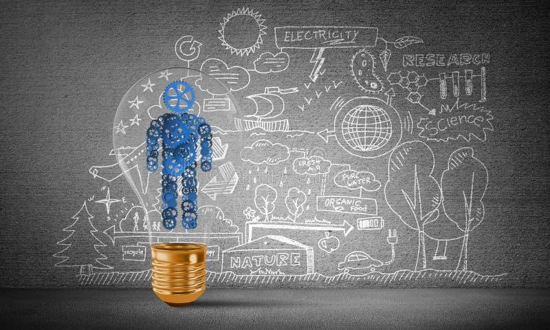 Concepto de innovaciones para la humanidad stock de ilustración