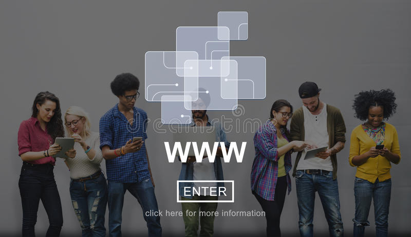 Concepto de Internet de la conexión del sitio web del web medios imagen de archivo libre de regalías