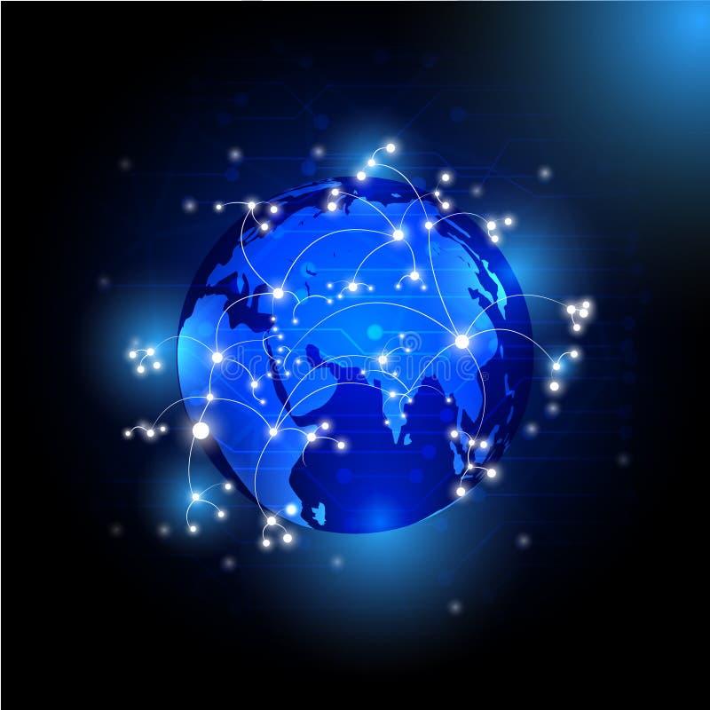 Concepto de Internet del ejemplo de negocio global libre illustration