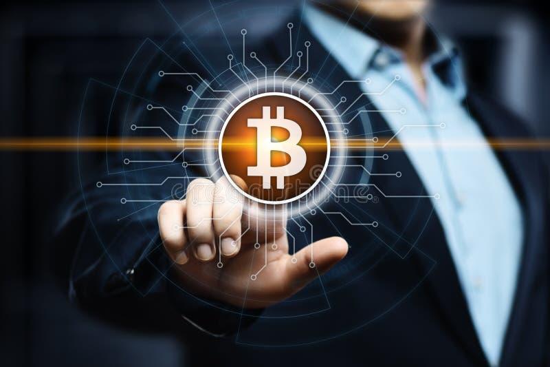 Concepto de Internet del negocio de la tecnología de la moneda de la moneda BTC del pedazo de Bitcoin Cryptocurrency Digital imagenes de archivo