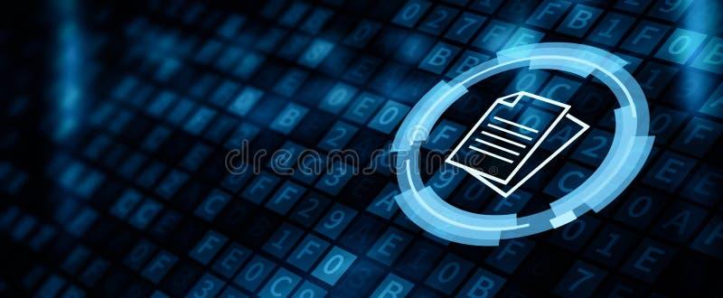 Concepto de Internet del negocio del sistema de datos de gesti?n de documentos libre illustration