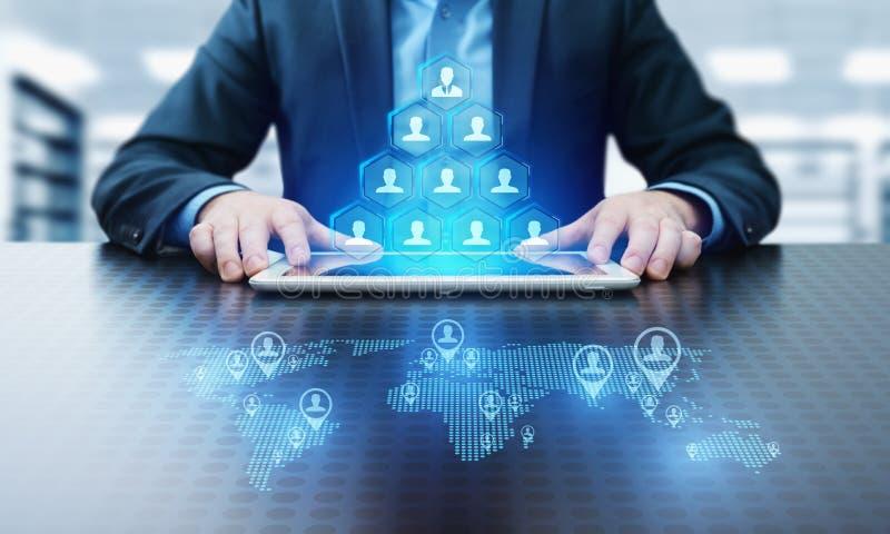Concepto de Internet de la tecnología del negocio de la cooperación de la sociedad de Successs de la formación de equipo del trab fotos de archivo
