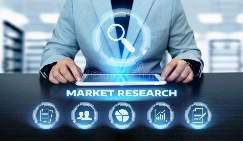Concepto de Internet de la tecnología del negocio de la estrategia de marketing del estudio de mercados foto de archivo