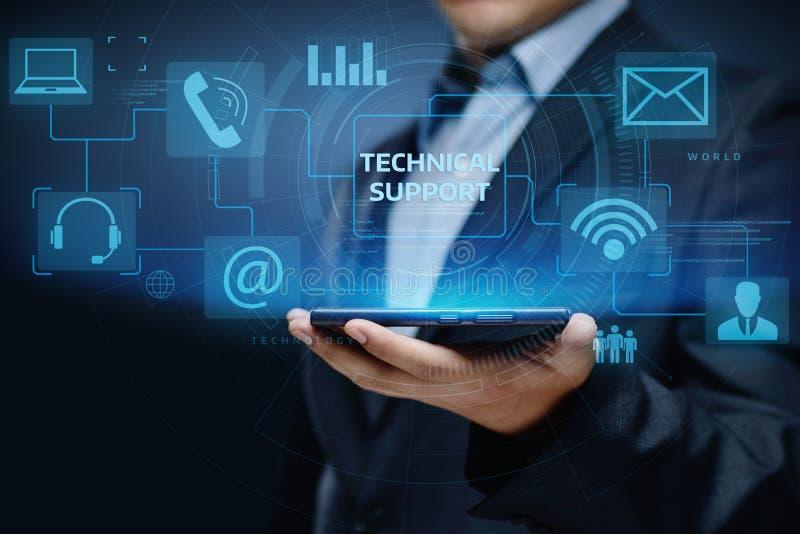 Concepto de Internet de la tecnología del negocio de servicio de atención al cliente del soporte técnico foto de archivo