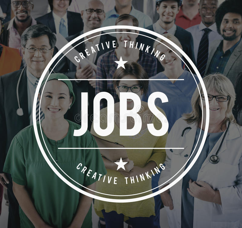 Concepto de Job Employment Hiring Career Occupation fotos de archivo libres de regalías