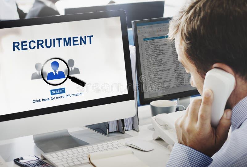 Concepto de Job Search Hiring Website Word imágenes de archivo libres de regalías