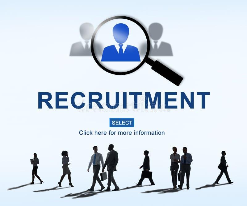 Concepto de Job Search Hiring Website Word fotos de archivo