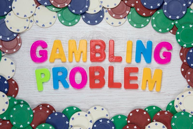 Concepto de juego del problema con el texto colorido imagen de archivo