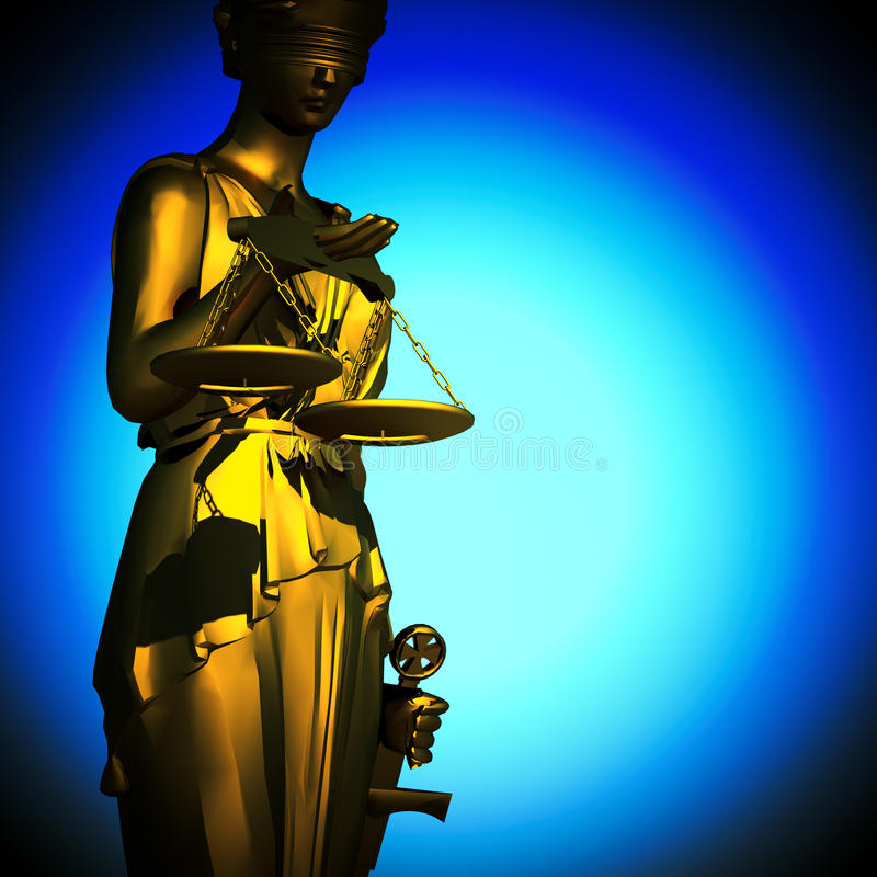 Concepto de justicia ilustración del vector