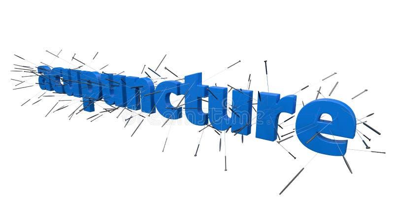 Concepto de la acupuntura con el texto ilustración 3D libre illustration