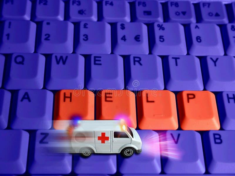 Concepto de la ambulancia - cuidado médico de las tecnologías imágenes de archivo libres de regalías