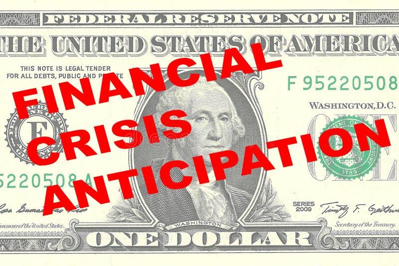 Concepto de la anticipación de la crisis financiera stock de ilustración
