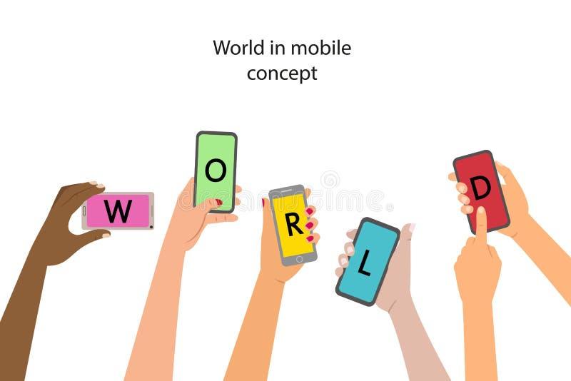 Concepto de la aplicación móvil ilustración del vector