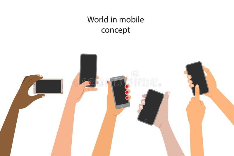 Concepto de la aplicación móvil libre illustration