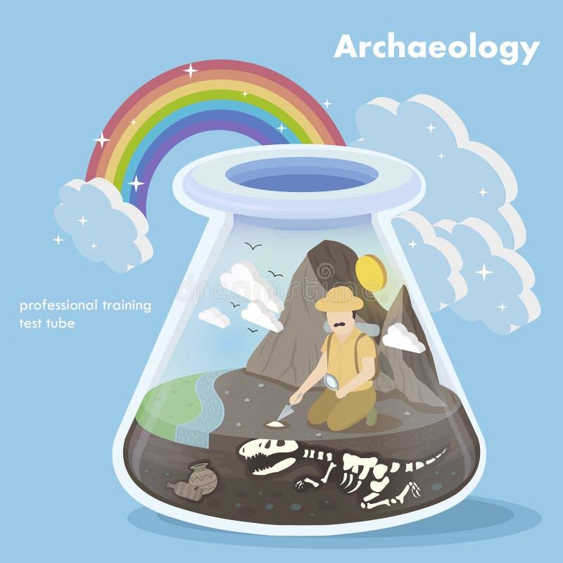 Concepto de la arqueología stock de ilustración