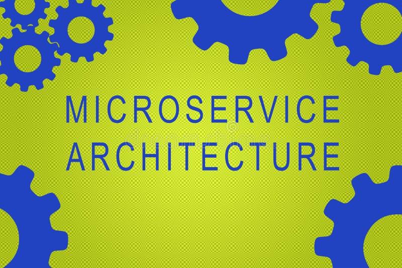 Concepto de la arquitectura de Microservice ilustración del vector