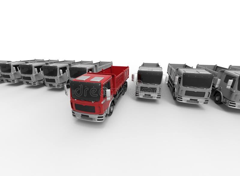 Concepto de la asignación de tarea de la flota de camión stock de ilustración