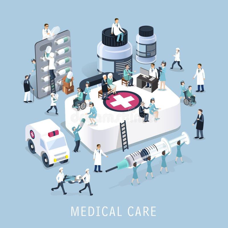 Concepto de la asistencia médica ilustración del vector