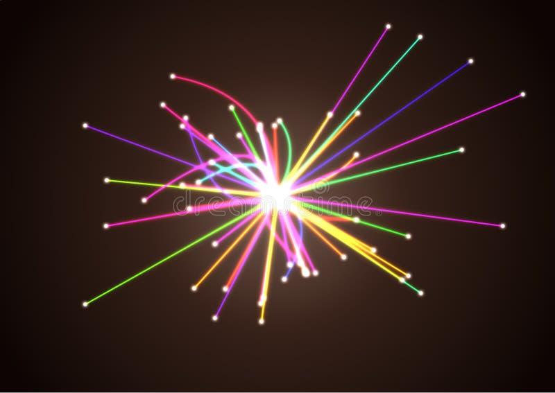 Concepto de la astrofísica Investigación científica Colisión de las partículas en Collider del Hadron stock de ilustración