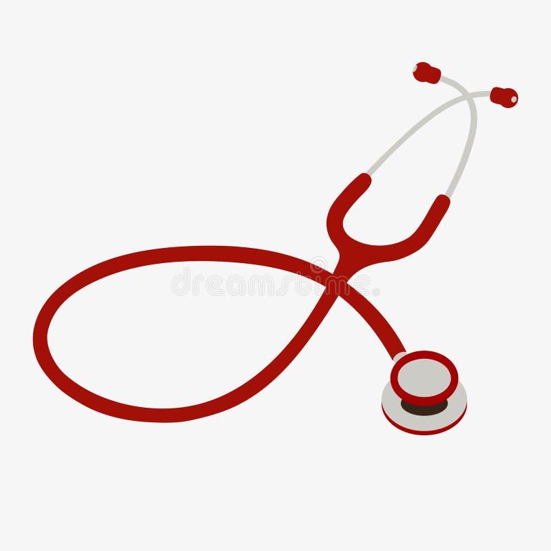 Concepto de la atención sanitaria con el estetoscopio Salud y diagnosis de la asistencia médica con el estetoscopio libre illustration