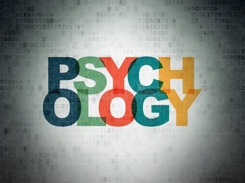 Concepto de la atención sanitaria: Psicología en fondo del papel de datos de Digitaces fotografía de archivo