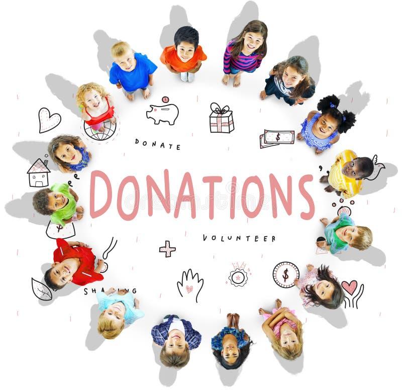 Concepto de la ayuda de la fundación de la caridad de las donaciones fotografía de archivo libre de regalías
