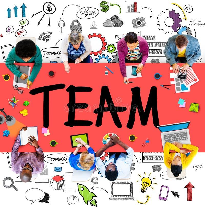 Concepto de la ayuda de Team Teamwork Support Collaboration Togetherness imagen de archivo libre de regalías