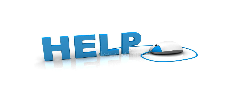 Concepto de la ayuda en línea ilustración del vector