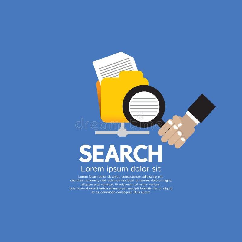 Concepto de la búsqueda. libre illustration