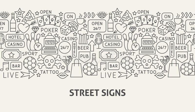 Concepto de la bandera de las placas de calle libre illustration