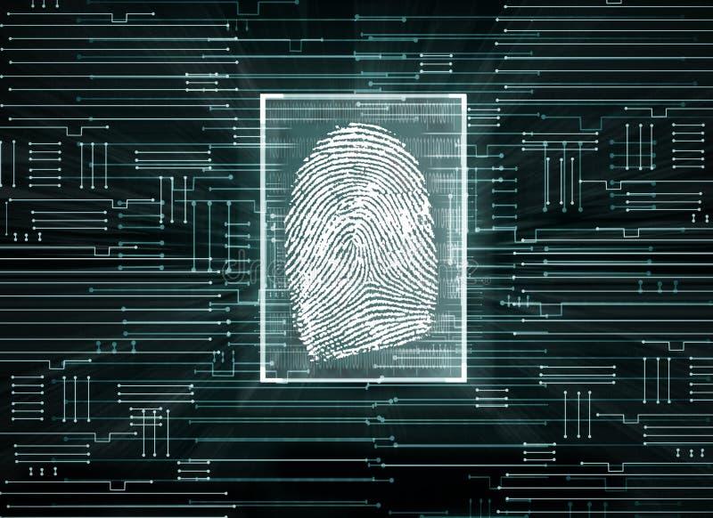 Concepto de la biométrica libre illustration