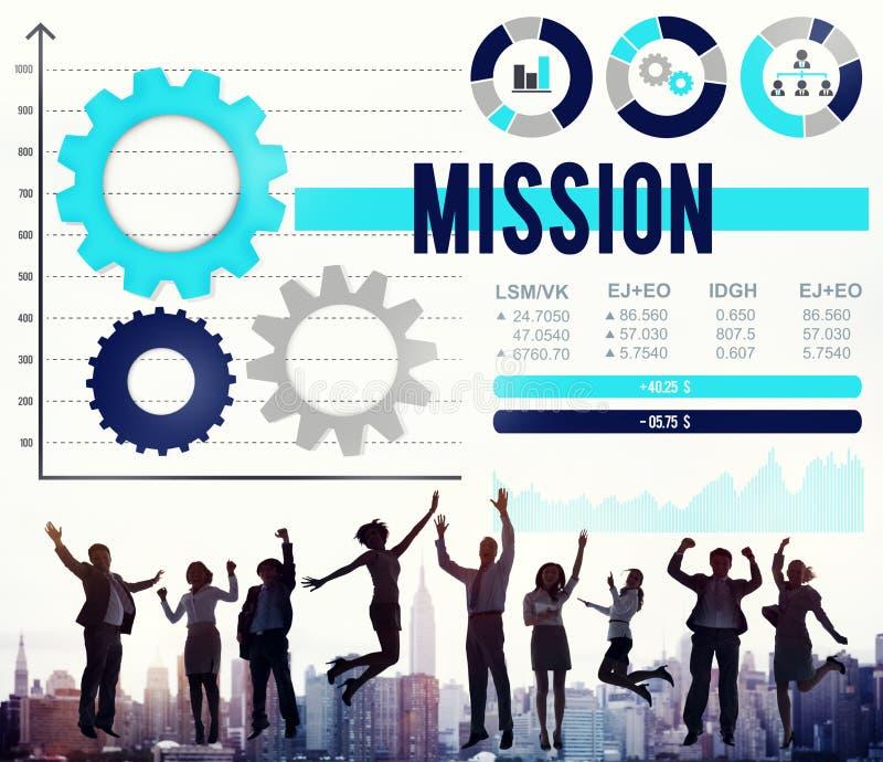 Concepto de la blanco de la meta de la inspiración de la aspiración del objetivo de la misión foto de archivo