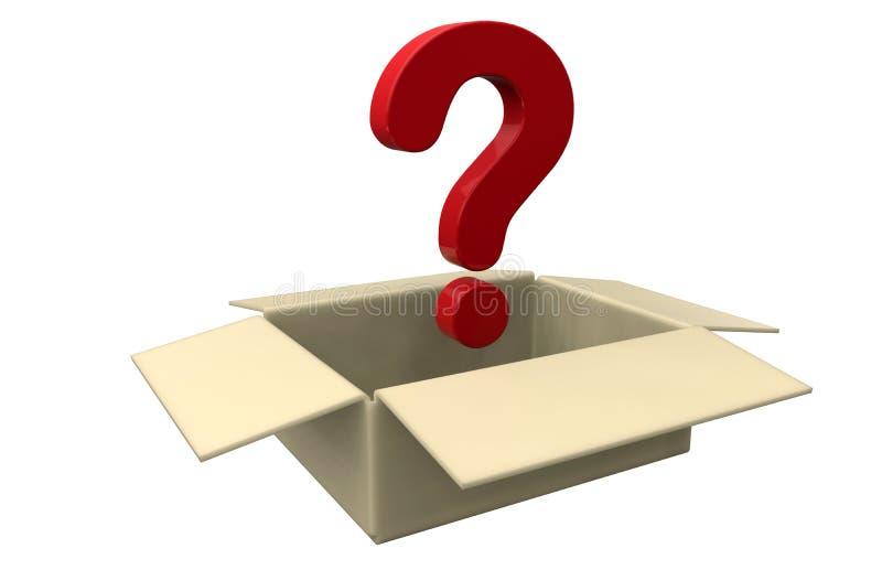 Concepto de la caja del misterio stock de ilustración