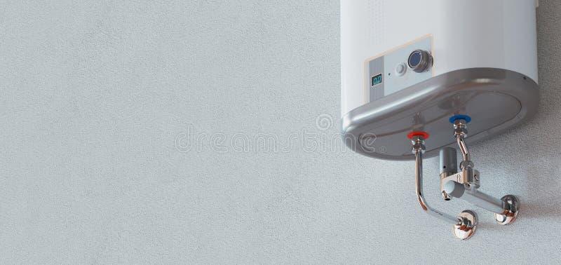 Concepto de la calefacción de la casa, caldera de gas casera moderna, representación 3d imagen de archivo