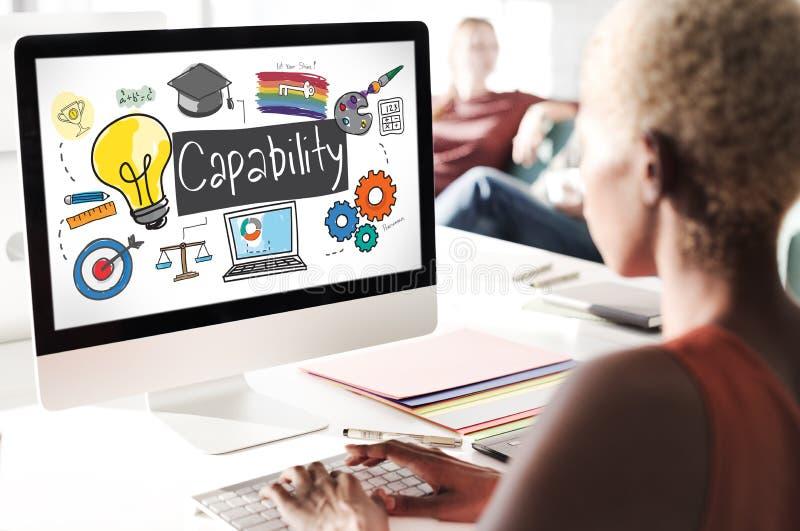 Concepto de la capacidad de la mejora de la inspiración del logro de la capacidad fotografía de archivo libre de regalías