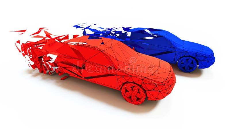 Concepto de la carrera de coches stock de ilustración