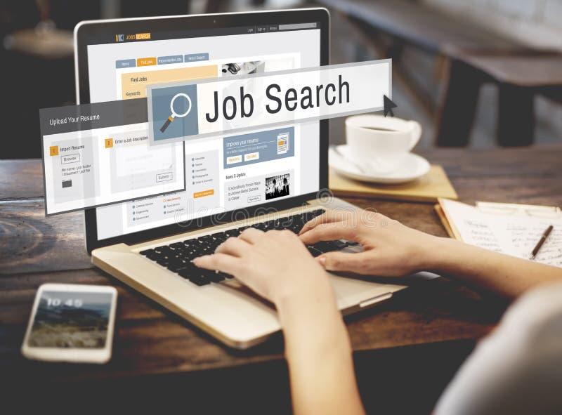 Concepto de la carrera de Job Search Human Resources Recruitment foto de archivo libre de regalías