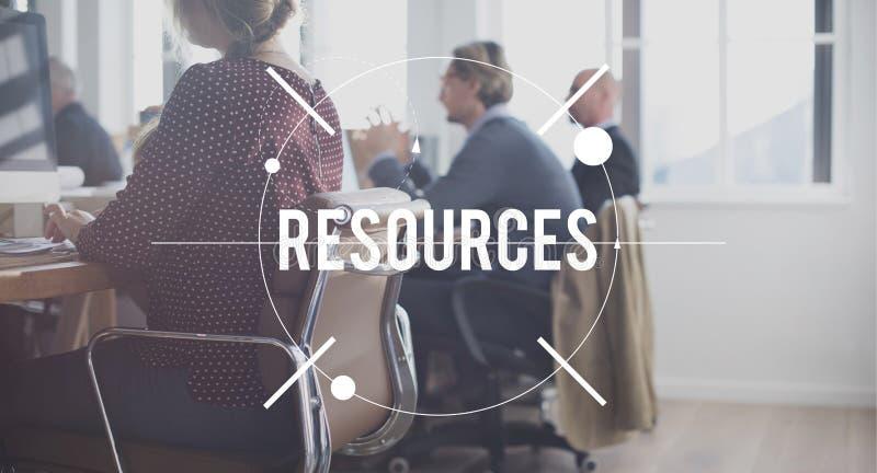 Concepto de la carrera del negocio de la mano de obra de la gestión de recursos fotografía de archivo libre de regalías