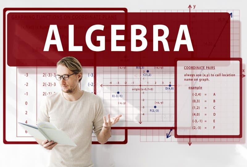 Concepto de la carta del cálculo de las matemáticas de la álgebra fotografía de archivo libre de regalías