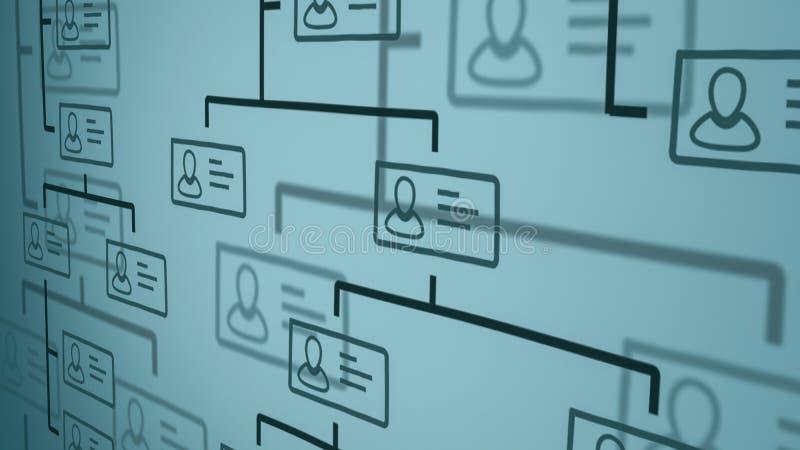 Concepto de la carta de organización ilustración del vector